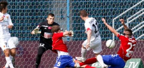 Frankowski equalises for Jagiellonia. (Photo: PAP/Andrzej Grygiel)